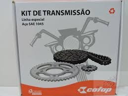 kit relação cofap corrente coroa pinhão titan 125 fan 00/08