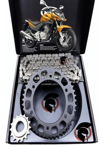 kit relação honda cb300 r vaz corrente com retentor aço 1045