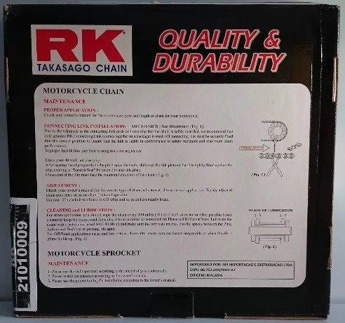 Kit Relação Kawasaki Er6n Versys 650 Ninja 650 Rk Racing
