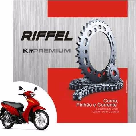 kit relação riffel 34x14 honda biz c100 2013/.. rf70992