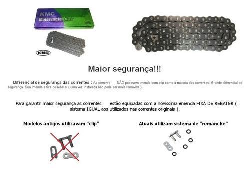 kit relação riffel + corrente kmc honda cb650f cbr650f