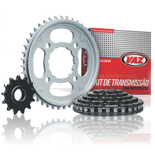 kit relação titan 150 mix coroa pinhão vaz + corrente max hg