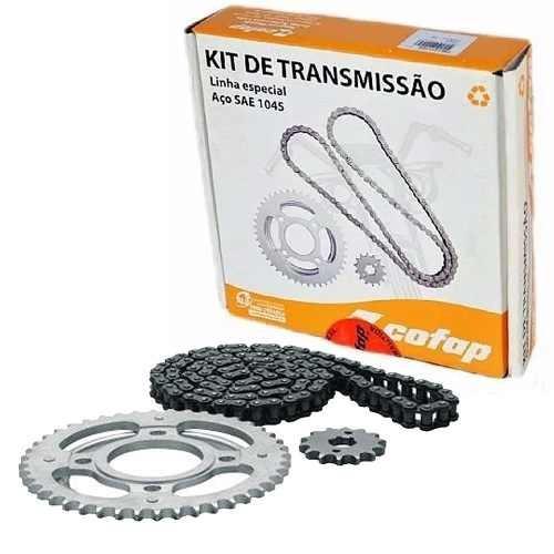 kit relação transmissão biz 100 98/06 cofap aço 1045