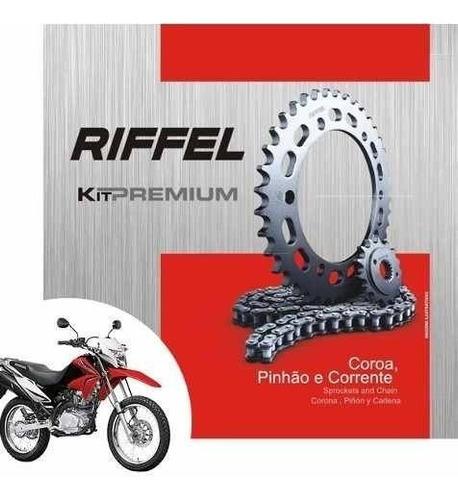 kit relação transmissão tração nxr bros 150 riffel premium