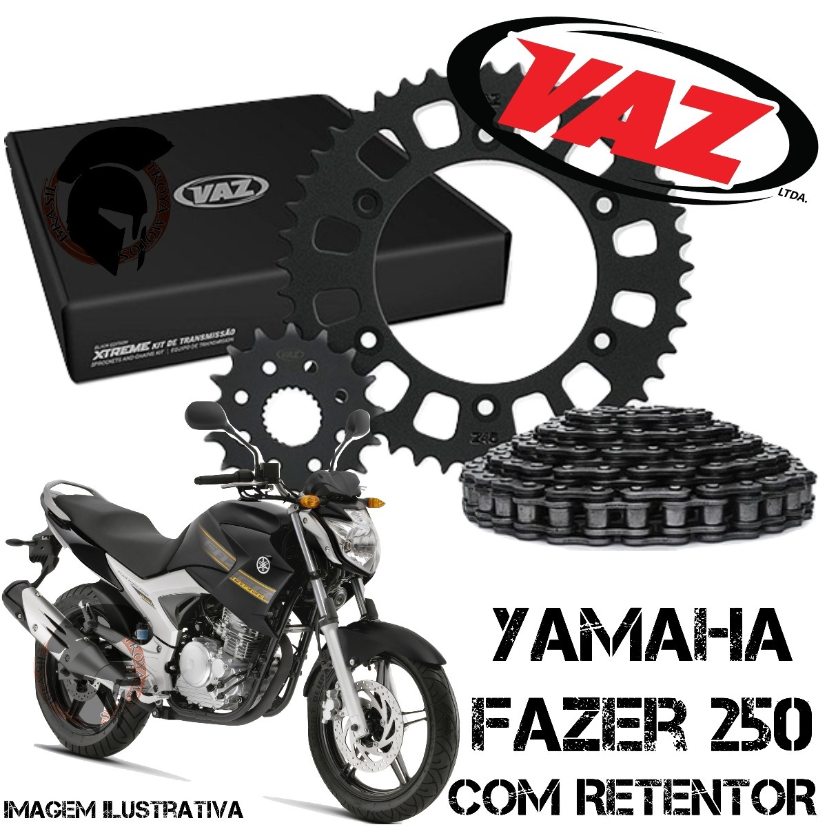 0c0b3440f2c Kit Relação Vaz Xtreme Fazer 250 C retentor 4512 O F E R T A - R ...