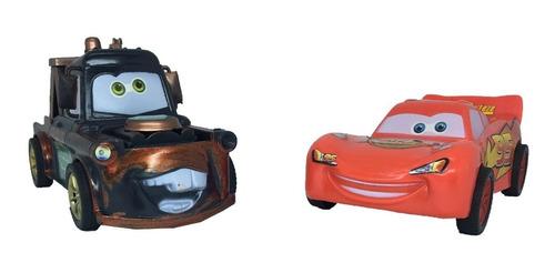 kit relâmpago mcqueen/mate fricção disney carros
