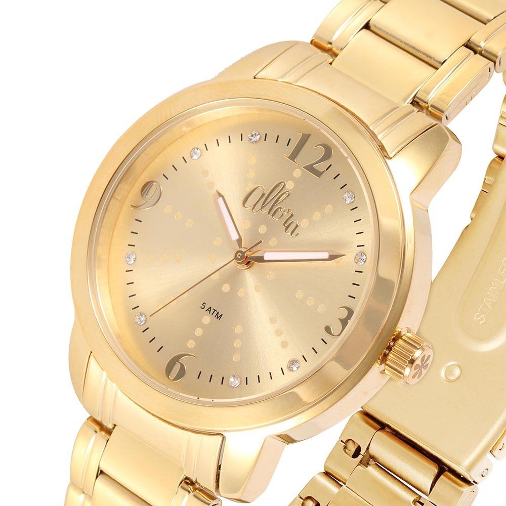 d3e29122180 kit relógio allora analógico feminino al2035fmf k4x. Carregando zoom.