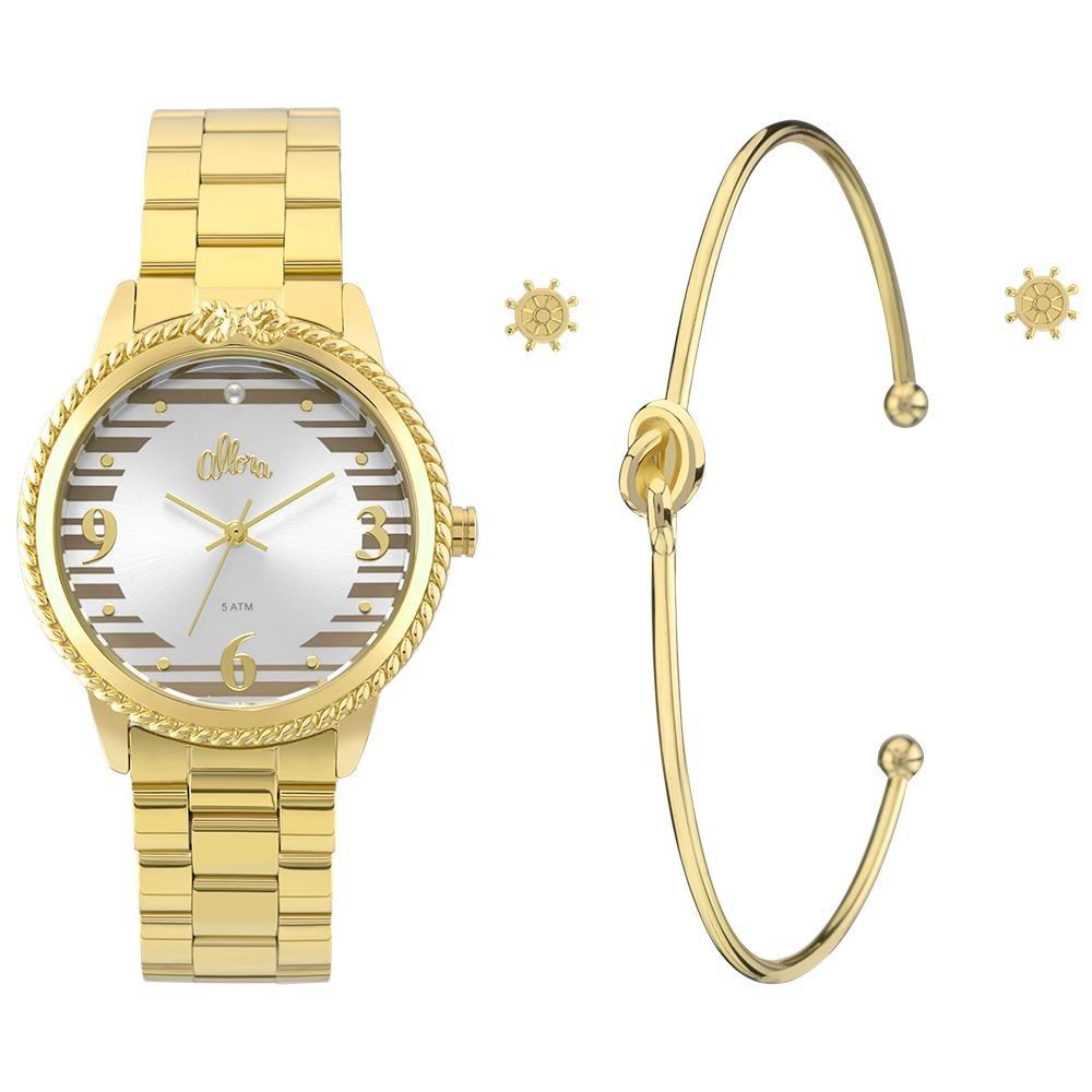 kit relógio allora feminino ao mar al2035fks k4k - dourado. Carregando zoom. c5f7b69ddb