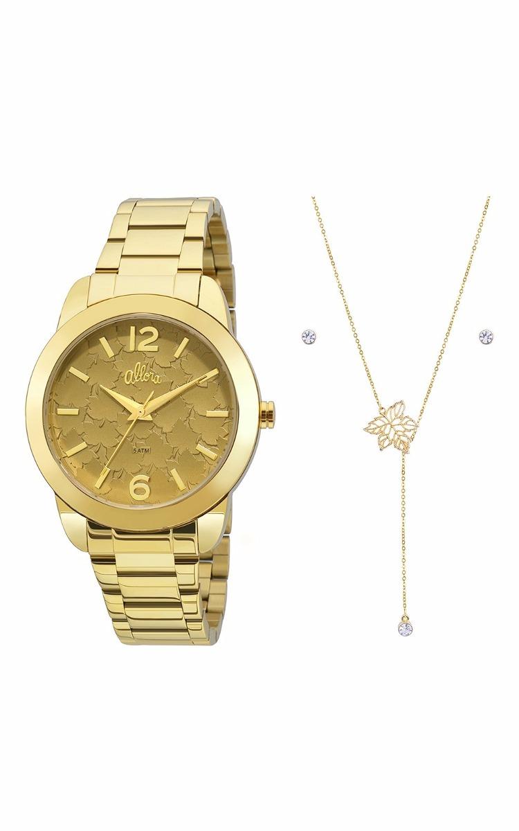 c783a2e497608 kit relógio allora feminino com colar e brinco al2036fgt k4m. Carregando  zoom.