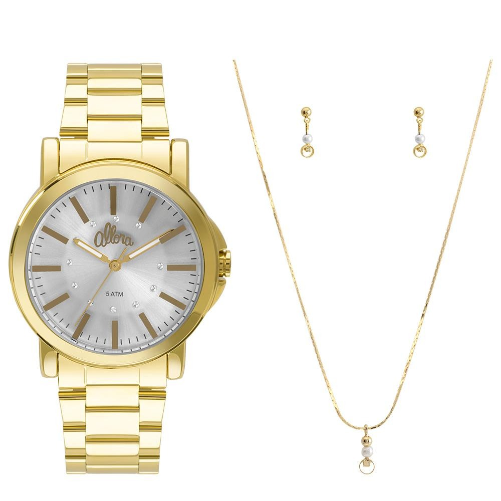 a2cdc5542f2 kit relógio allora feminino serena al2036cf k4k - dourado. Carregando zoom.