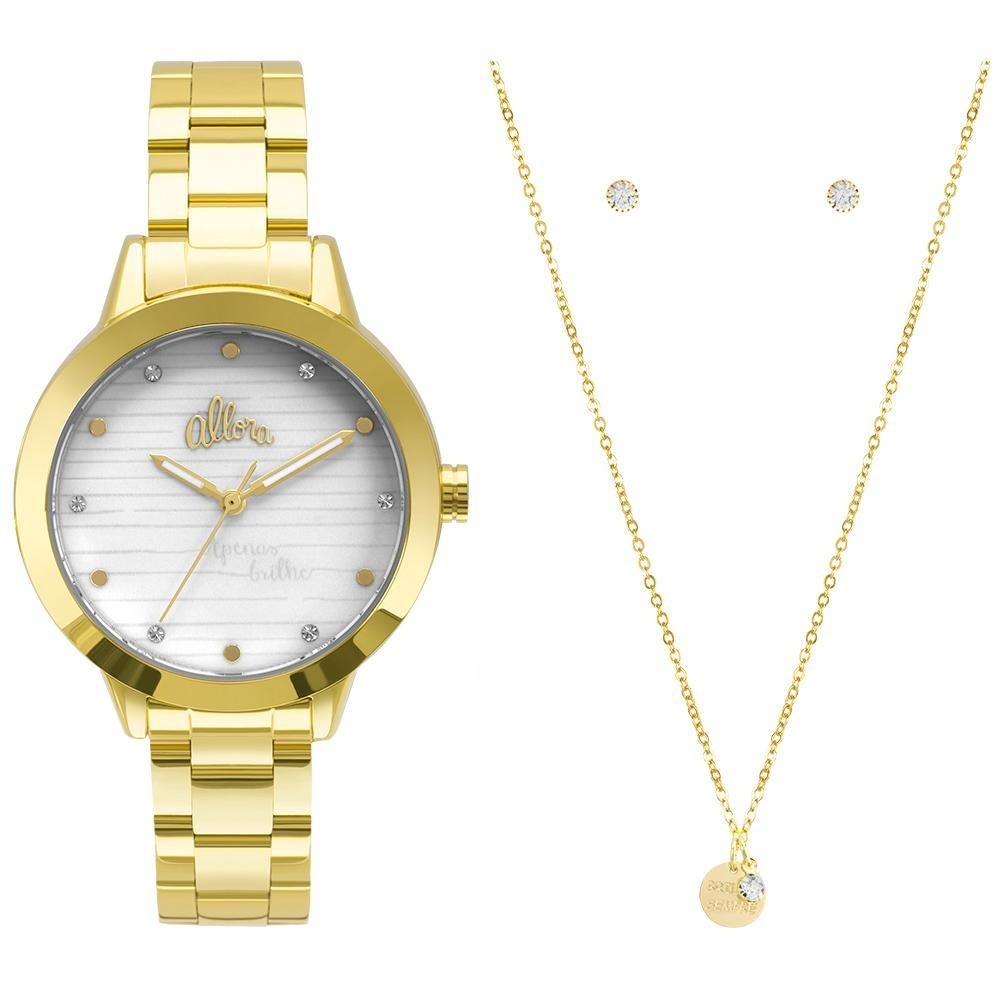 bee64ec990d kit relógio allora feminino serena al2036flv k4b - dourado. Carregando zoom.