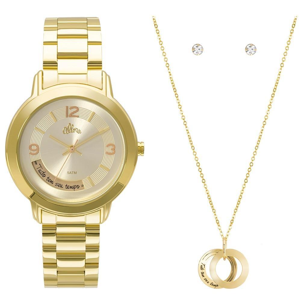 427e3affceb kit relógio allora feminino serena al2315ai k4x - dourado. Carregando zoom.