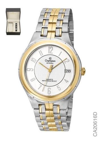 kit relógio analógico social champion ca20616d