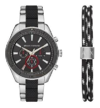 kit relógio armani exchange masculino robustos ax7106