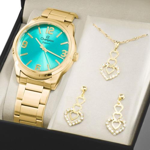 kit relógio champion feminino barato original nfe