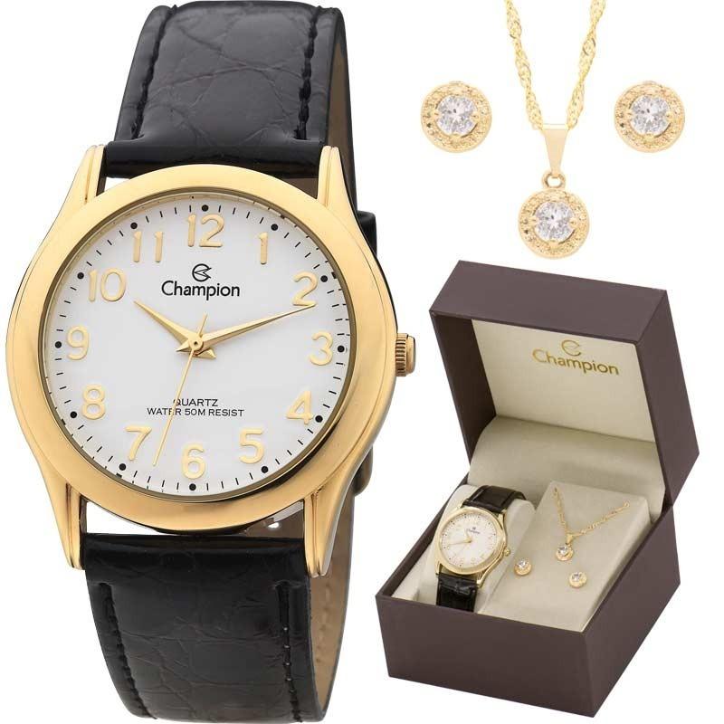552e00029 kit relógio champion feminino com colar e brincos ch22224w. Carregando zoom.