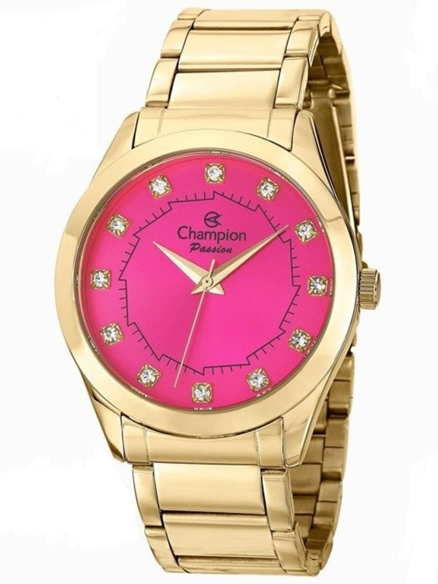 d0695e027 kit relógio champion feminino dourado 50 metros ch24759j. Carregando zoom.
