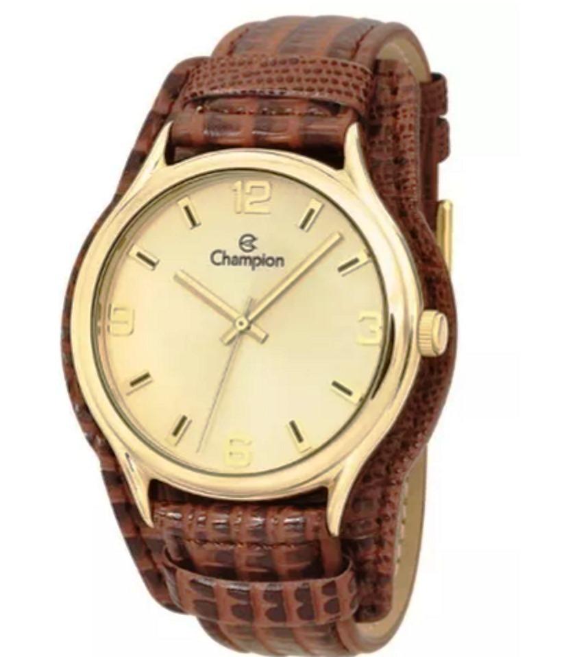 5c7c9837730 kit relógio champion feminino dourado pulseira couro marrom. Carregando  zoom.