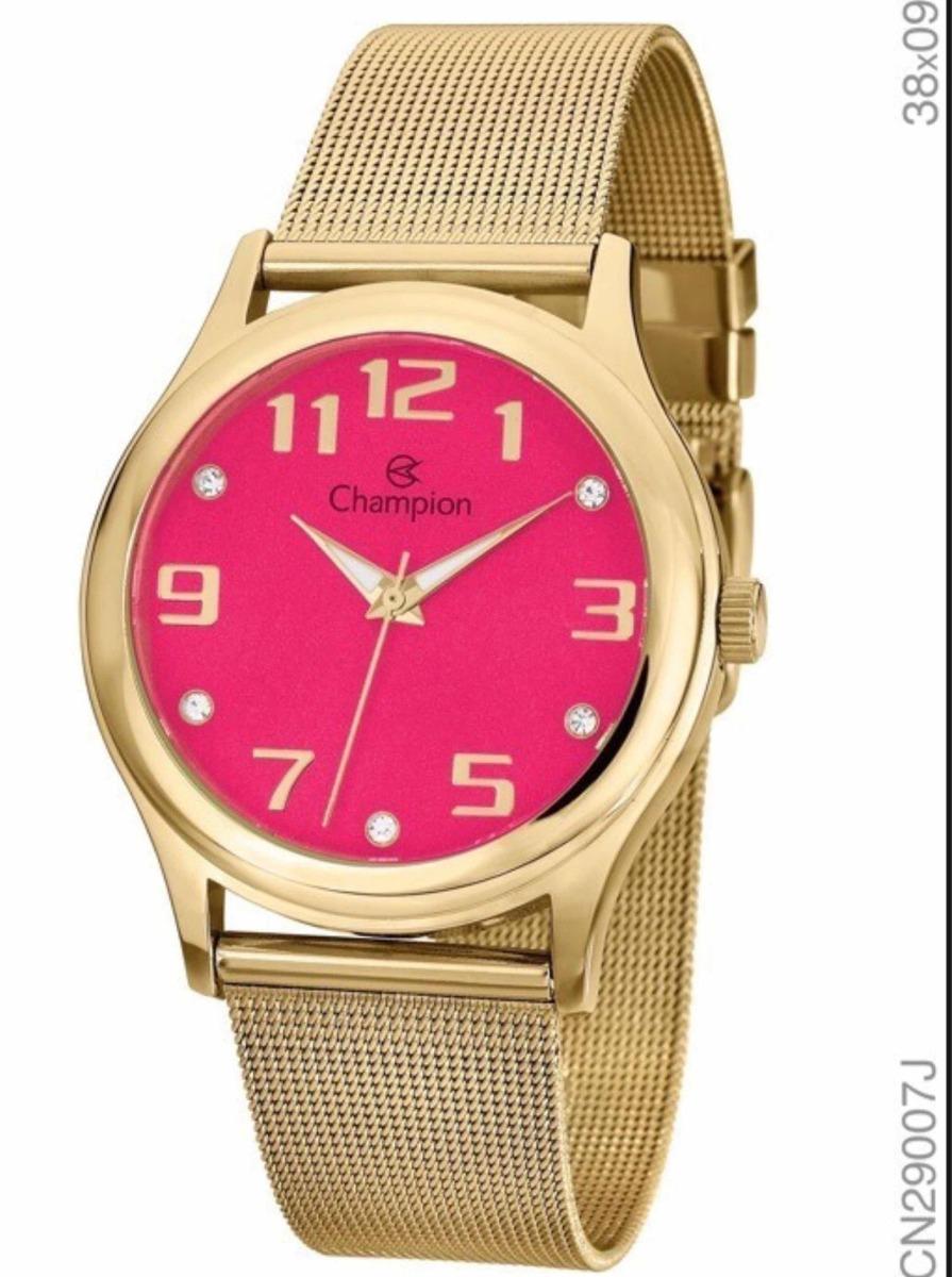 09e740bda6e kit relógio champion feminino mostrador rosa cn29007j. Carregando zoom.