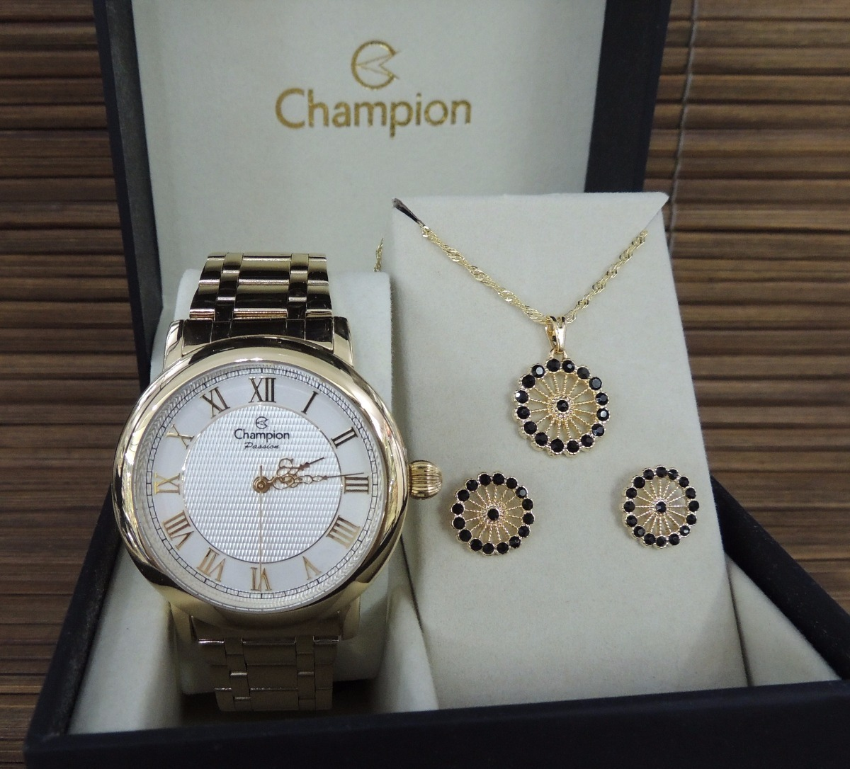 5e6ead39d58 kit relógio champion feminino passion - cn29936w - nf e gar. Carregando  zoom.