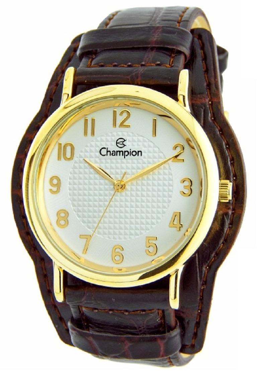 21e0de482f7 kit relógio champion feminino pulseira couro marrom cn20275w. Carregando  zoom.