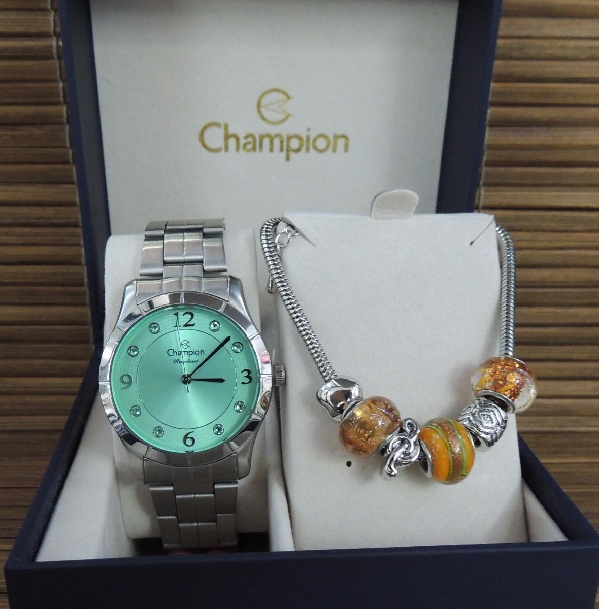 2f11b836dbf kit relógio champion feminino rainbow cn29909m (nf). Carregando zoom.