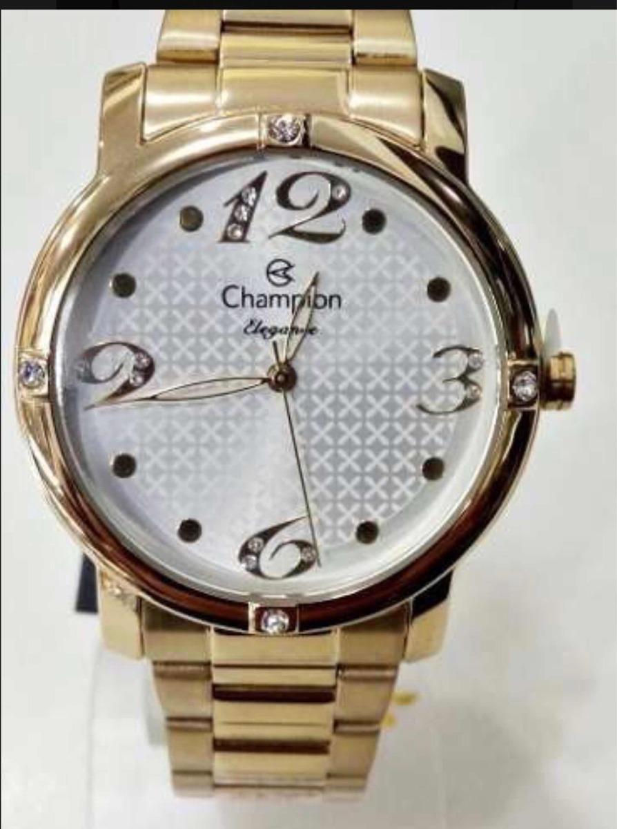 9724116393f kit relógio champion original e semi jóias cn27634w. Carregando zoom.