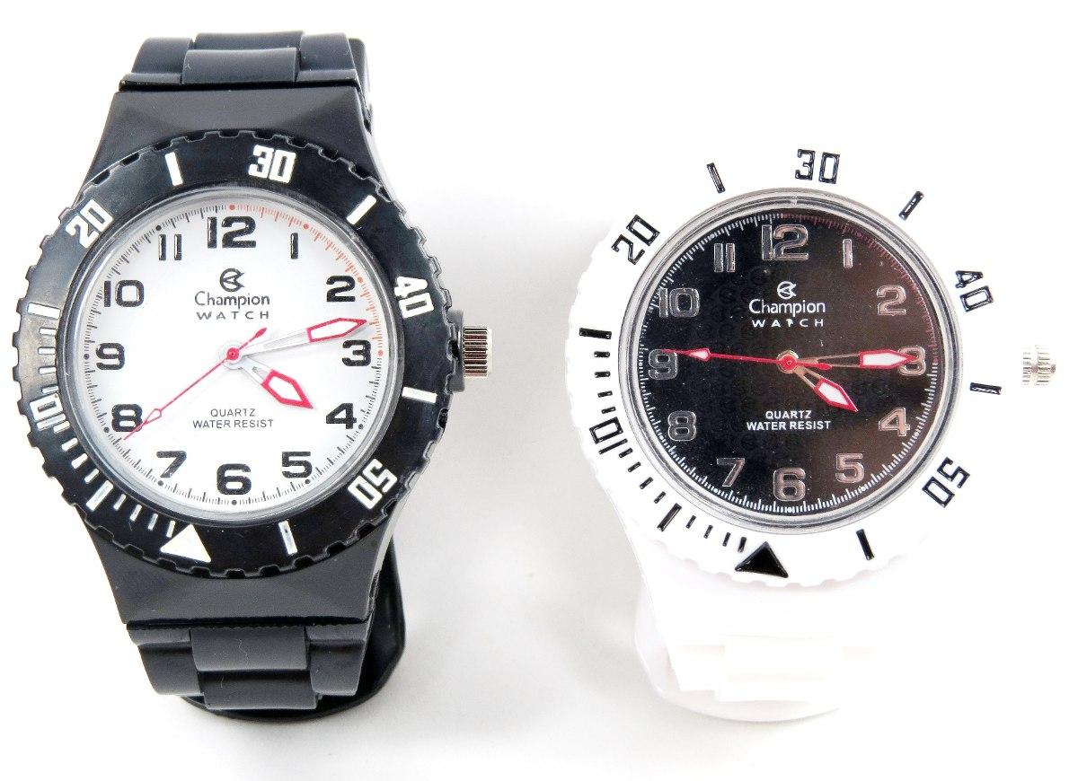 7c1f073db76 kit relógio champion troca pulseiras 5 cores pronta entrega. Carregando  zoom.