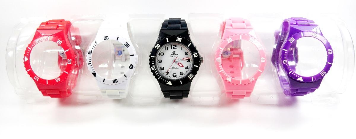 ca8c1efa061 kit relógio champion troca pulseiras 5 cores pronta entrega. Carregando  zoom.