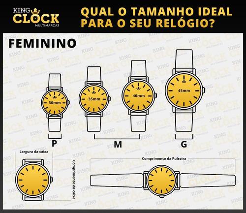 kit relógio condor feminino co2035kur/t4k -troca aros com nf