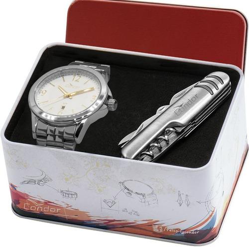 kit relógio condor masculino barato + brinde garantia nfe