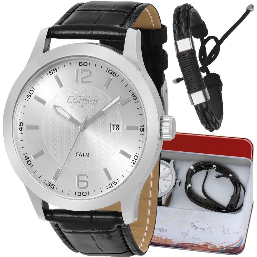 kit relógio condor masculino brinde pulseira copc32al k3c. Carregando zoom. 9940edeaf4
