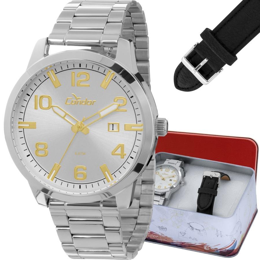 1167117ddff kit relógio condor masculino troca pulseira co2115tb 3b. Carregando zoom.