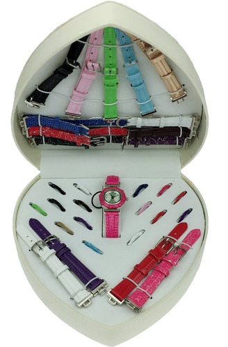kit relógio feminino 16 pulseiras / 16 aros frete grátis