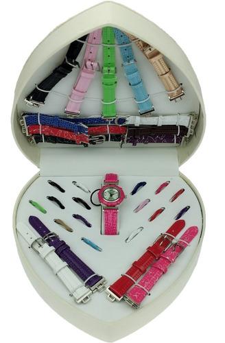 kit relógio feminino 16 pulseiras / 16 aros pronta entrega