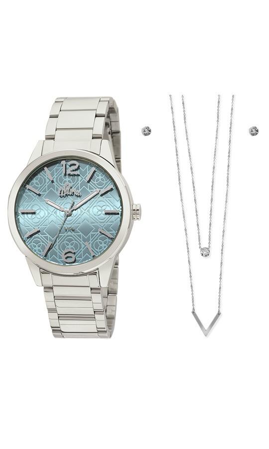 f7c1d3b48 kit relógio feminino allora analógico fashion al2035fhp k3. Carregando zoom.