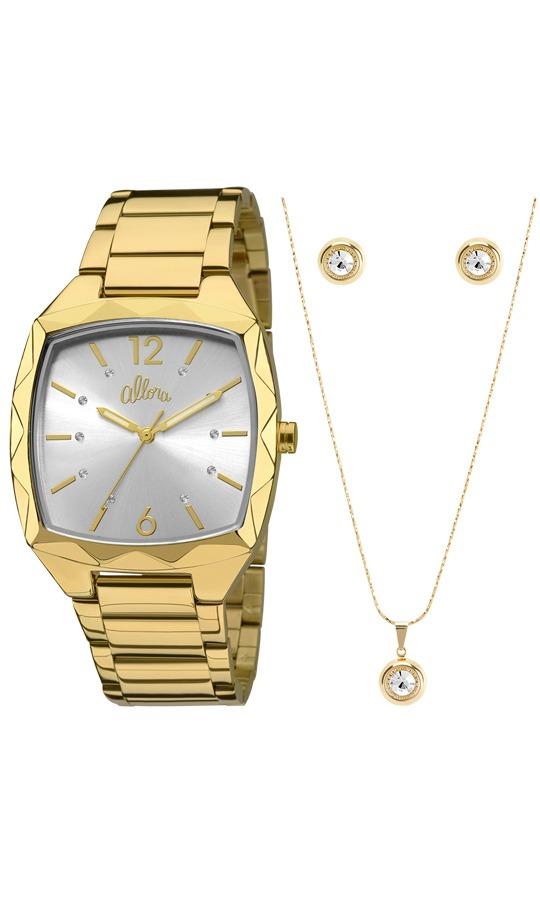 kit relógio feminino allora analógico fashion al2036ck k4k. Carregando zoom. 805216c7d8