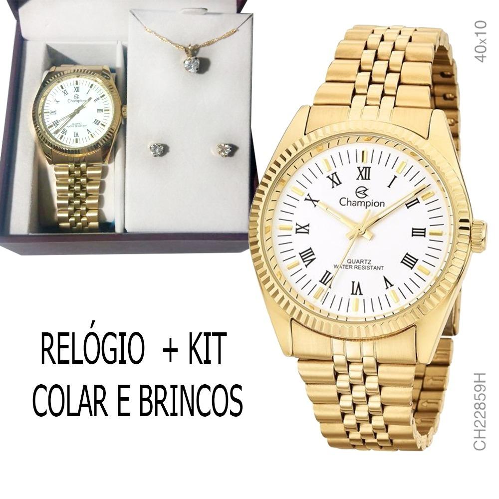 2a24cd9cace kit relógio feminino champion ch22859w black friday original. Carregando  zoom.