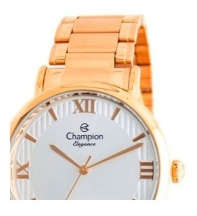 kit relógio feminino champion + colar semi joia