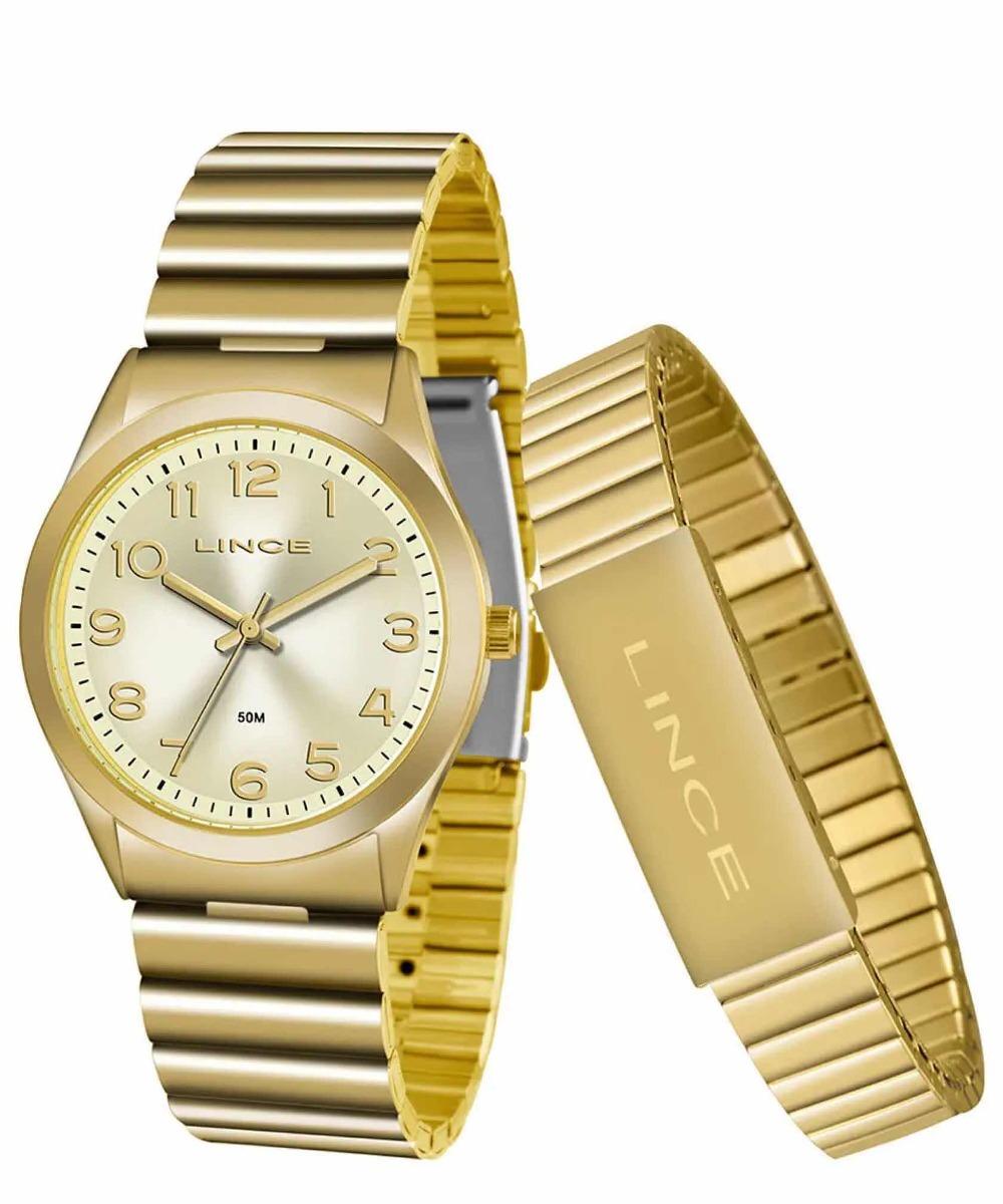 14df6d77ab6 Kit Relógio Feminino Lince Lrg4455l Kt81c2kx - R  199