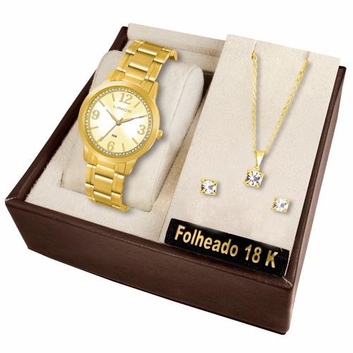 kit relógio lince feminino - lrg4251l k066 s2kx
