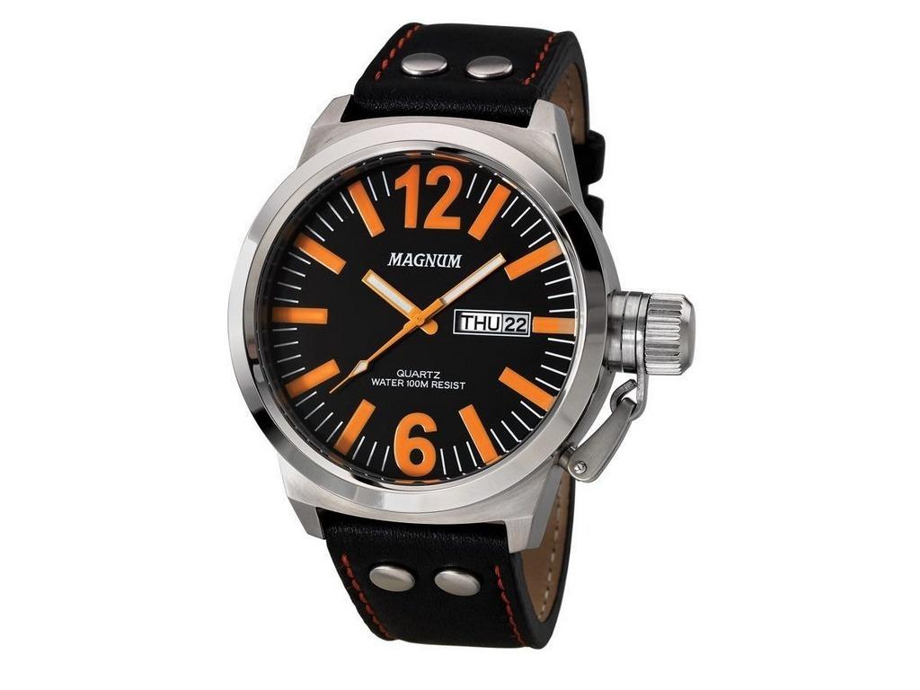 81bab230808 kit relógio magnum masculino com pulseira ma31524c. Carregando zoom.