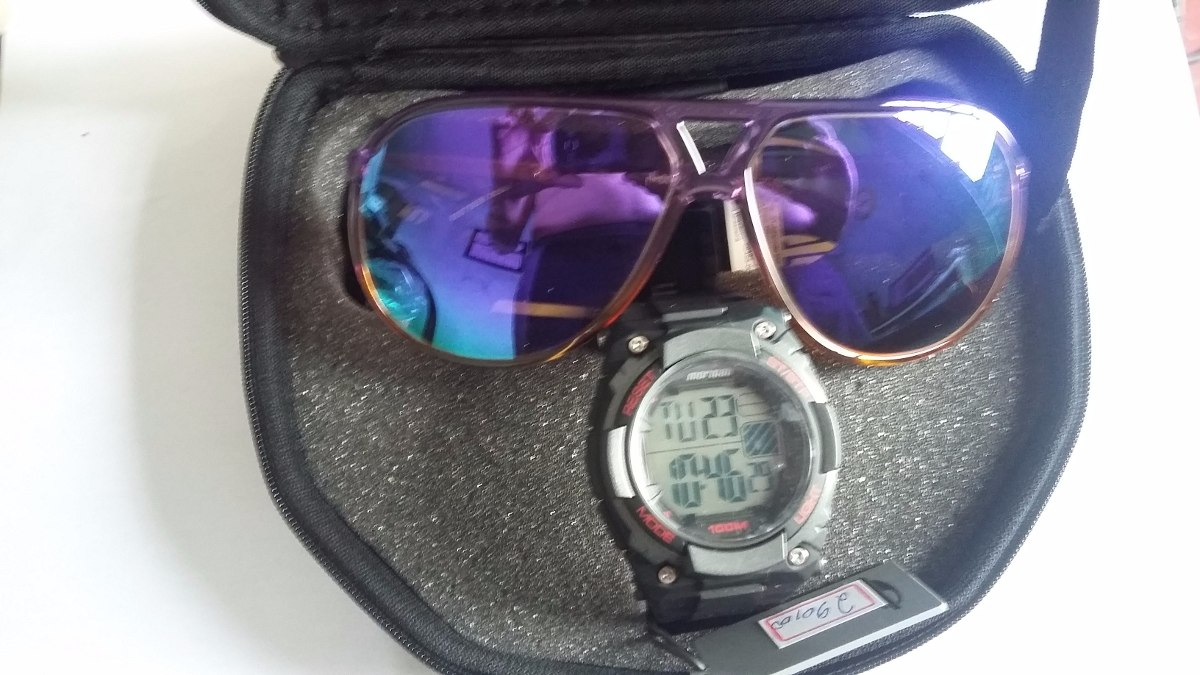 cf859a477 kit relógio masculino digital mormaii +óculos de sol mormaii. Carregando  zoom.