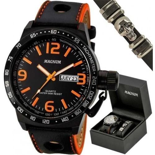 Kit Relógio Masculino Magnum Analógico Ma31542c - R  376,95 em ... 0f8335509f