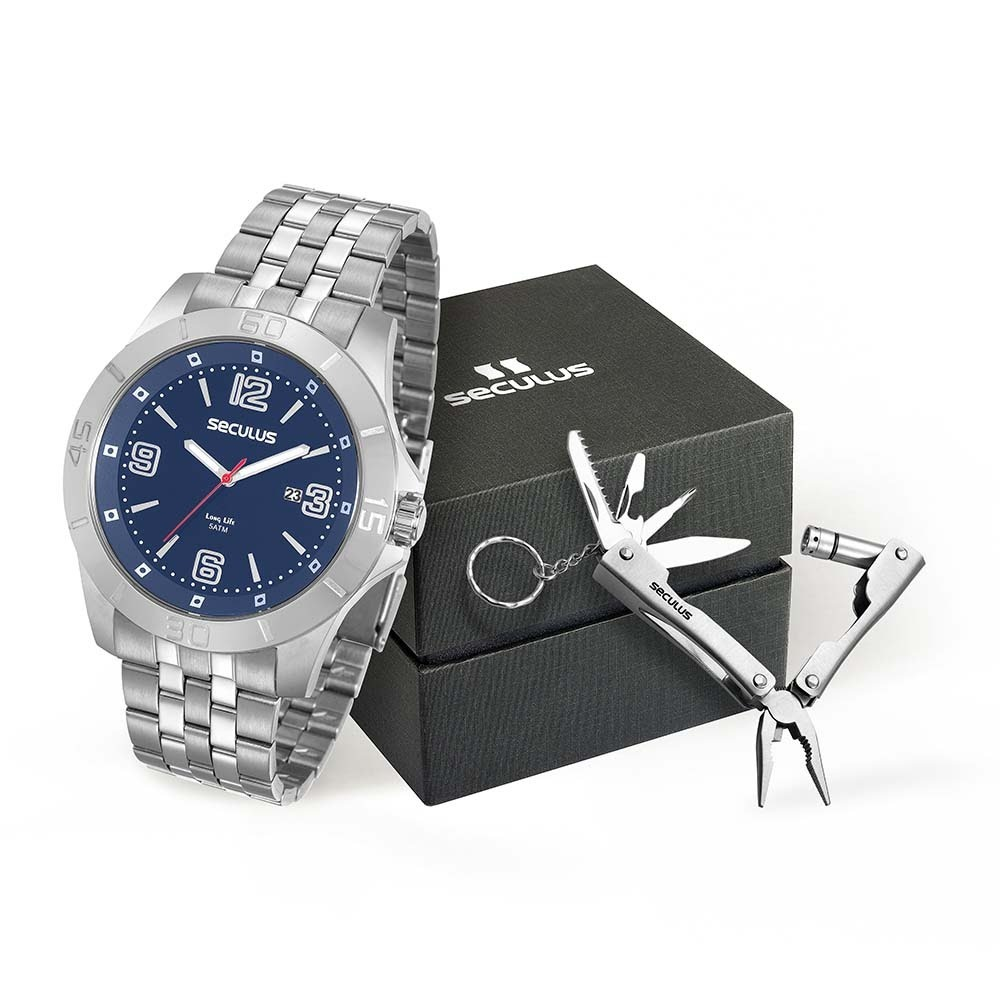 9a38ce512 kit relógio masculino seculus prata canivete 20581g0svna2k1. Carregando  zoom.