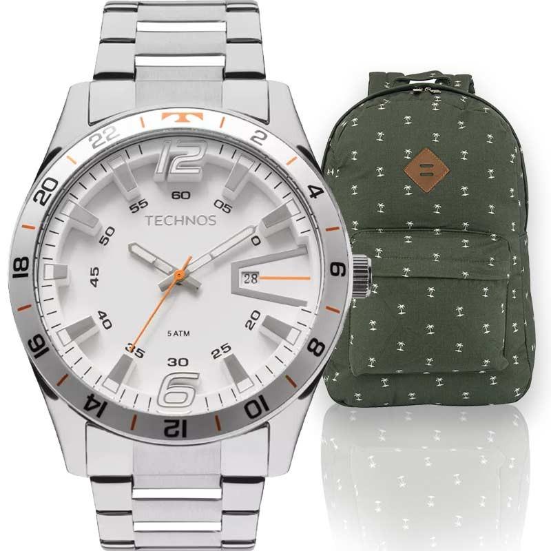 cf950614c2b kit relógio masculino technos com mochila coconut. Carregando zoom.