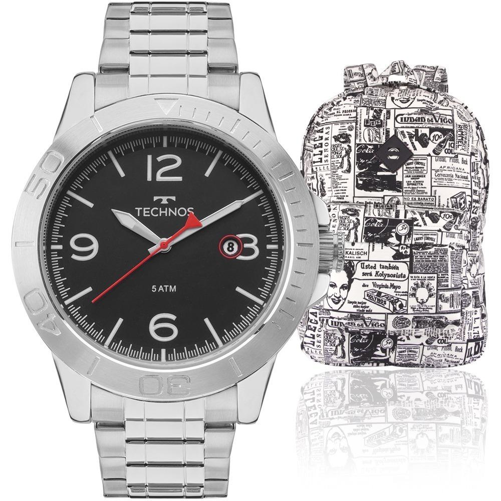 72e86305aadf9 kit relógio masculino technos mochila advert advert2315kzo. Carregando zoom.