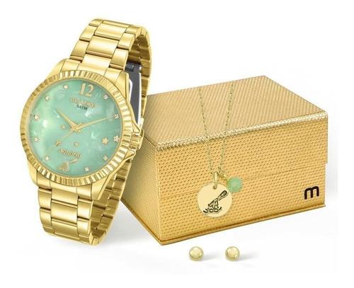 kit relógio mondaine feminino aquário - 99128lpmkde1k1