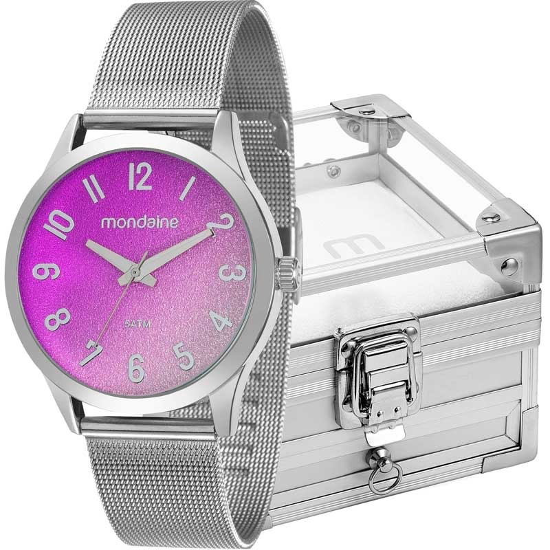 118304dcacd kit relógio mondaine feminino com porta jóias 53547l0mkne1k1. Carregando  zoom.