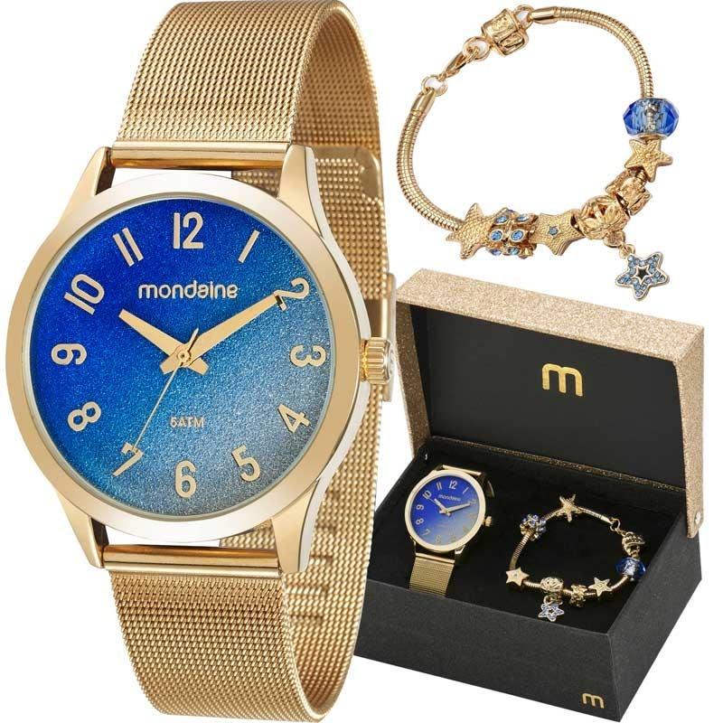 16db8027fd5 kit relógio mondaine feminino com pulseira 53547lpmkde2k1. Carregando zoom.